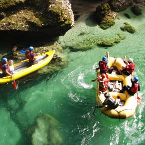 Rafting na Salze